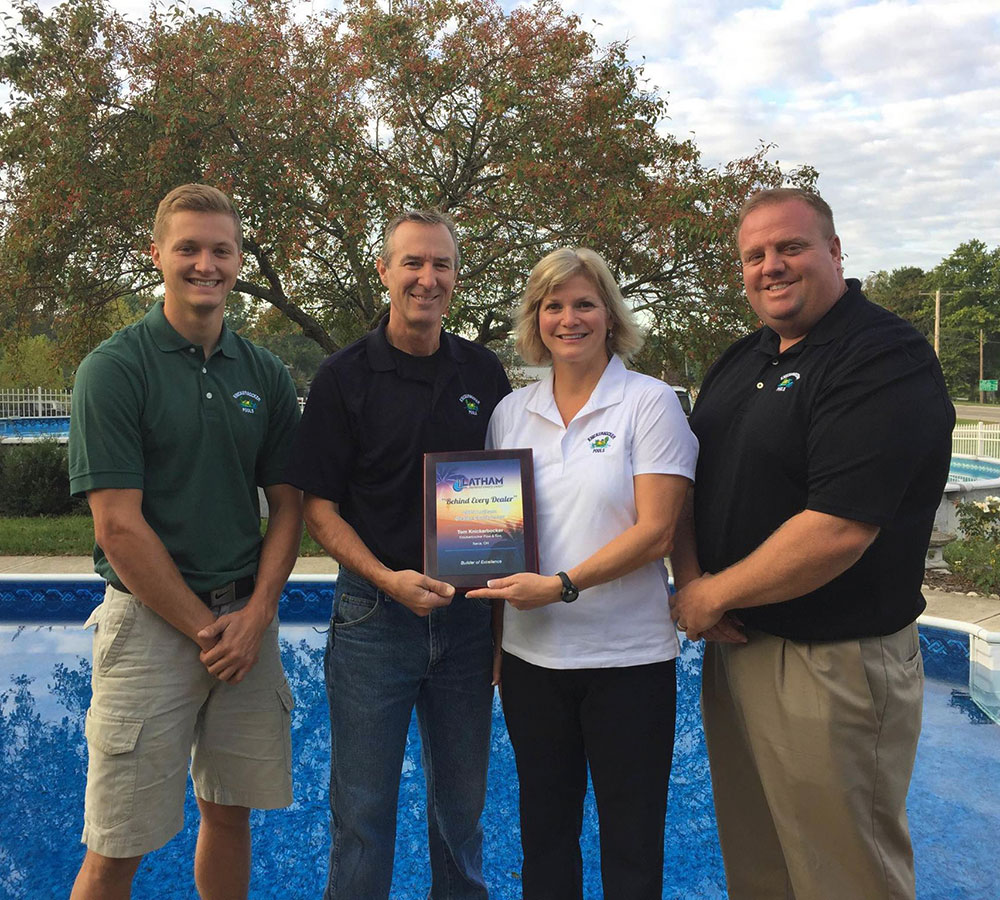 Knickerbocker Pools received the Latham Dealer Award