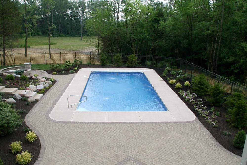 Beautiful pool garden