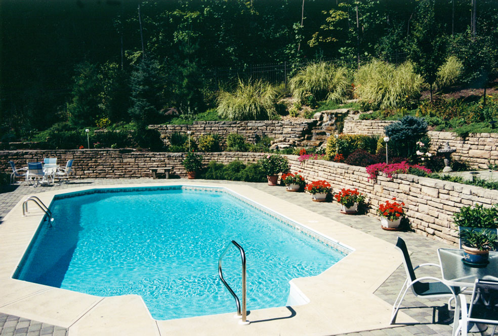Beautiful in-ground pools brought to you by Knickerbocker Pools.